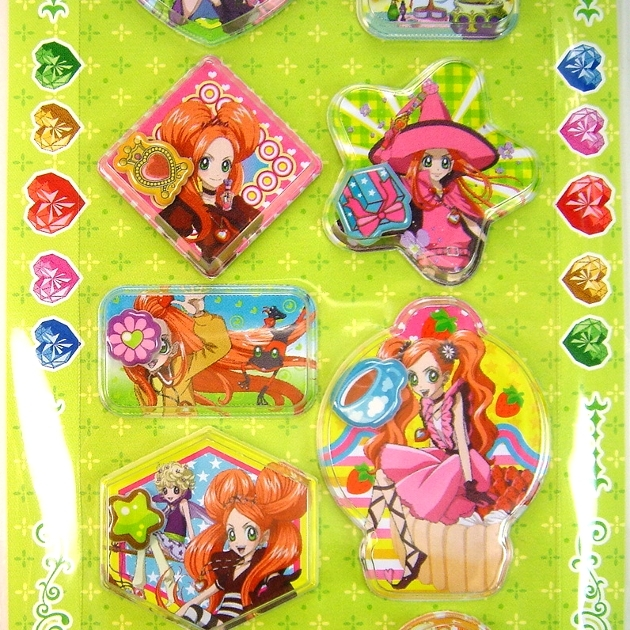 Anime Sugar Sugar Rune Capsule Stickers Lime Green