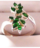 Faux Russian Demantoid Garnet cocktail cluster ... - $46.00