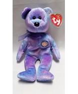 Ty Clubby Beanie Baby Bear 4 IV Retired Purple ... - $12.99