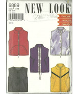 New Look Sewing Pattern 6889 Misses Womens Vest... - $9.98