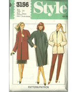 Style Sewing Pattern 3156 Misses Womens Coat Ja... - $19.99