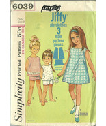 Simplicity Sewing Pattern 6039 Girls Dress Top ... - $19.99