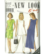 New Look Sewing Pattern 6602 Misses Womens Dres... - $14.98
