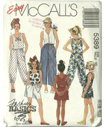 McCall's Sewing Pattern 5389 Girls Top Shorts P... - $9.98