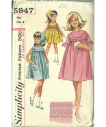Simplicity Sewing Pattern 5947 Girls Smocked Dr... - $19.99