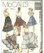 McCall's Sewing Pattern 6442 Misses Womens Tier... - $12.98