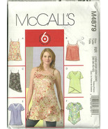 McCall's Sewing Pattern 4879 Misses Womens Top ... - $10.98