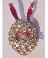 Unsigned AB Vintage Rhinestone Brooch Pin Figur... - $48.51