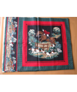 Fox Hunting Fabric Panel Horses and Hounds 2 Pi... - $7.95