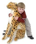 Cheetah Stuffed Animal 3ft Tall Jungle Play Lar... - $78.03