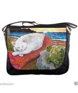 Messenger Handbag bag Purse Cat Mermaid 26 turt... - $39.99