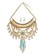 Stunning Turquoise and Gold-Tone Necklace - $32.00