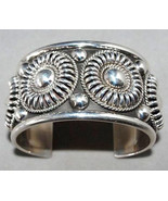 Navajo Tom Charley Sterling Silver Floral Cuff ... - $870.21
