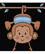 Latch Hook Rug Pattern Chart: HANGING MONKEY - ... - $5.75