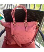 $558  COACH Ashley Tossed Laser Cut Lace Leathe... - $398.00