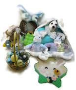 10 Pc Easter Bunny Lot Stuff Animals Bunnies Eg... - $25.00