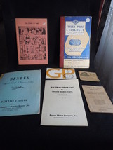 Watch And Clock Vintage Catalog And Booklet Lot - $9.99
