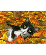 ACEO art print Cat #309 tuxedo cat OE by Lucie ... - $4.99