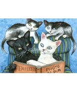 ACEO art print Cat #310 OE by Lucie Dumas - $4.99