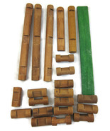 24 Lincoln Logs Wood Wooden Brown Building Toys... - $10.00