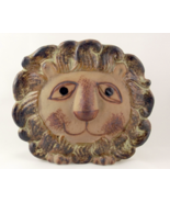 Vintage mid century pottery lion head wall pock... - $25.00