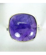 Polished Purple Square Dome Amethyst Sterling S... - $63.49