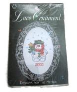 Leisure Arts Cross Stitch Kit Pattern Lace Orna... - $10.00