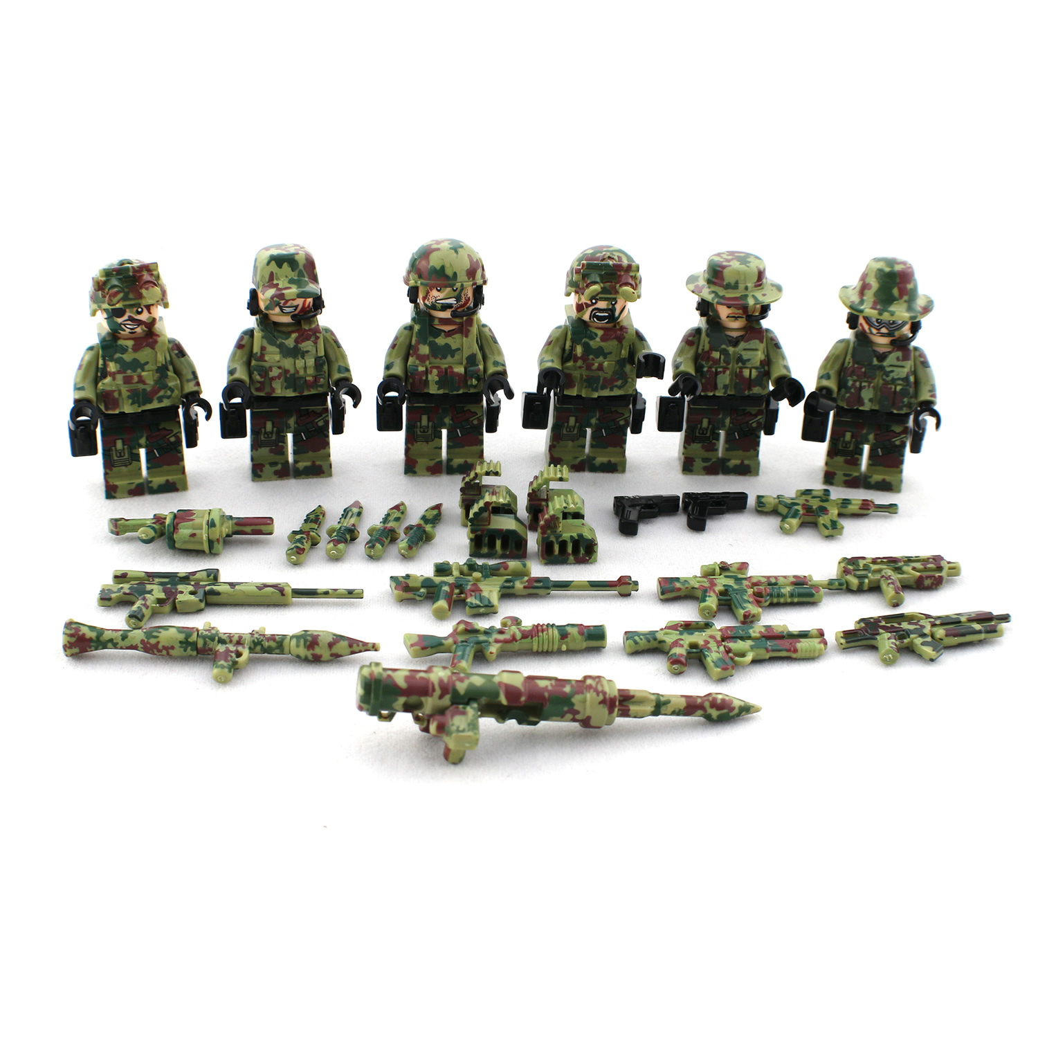 Cool Toy Army Men : Army commando soldiers minifigs lego comaptible