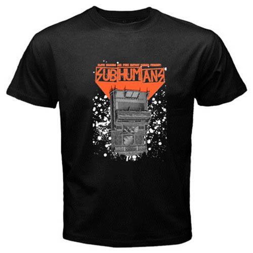 Custom subhuman band black t shirt 2 t shirts for Making band t shirts