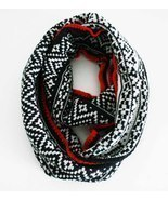 Infinity scarf REVERSIBLE Knitted Aztec print i... - $23.99