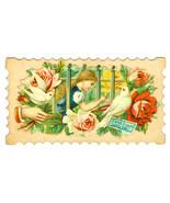 Victorian Die cut Greeting Card Chromolithograp... - $8.90
