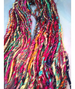 ART RECYCLED SILK YARN CROCHET - 500 GRAMS  KNI... - $23.39