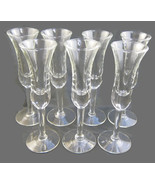 7 Fluted Sparkling Wine Champagne Glasses Clear... - $25.00