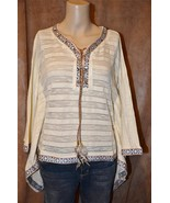 NEW Boston Proper Feather Lace Up Poncho XS S 2... - $34.99