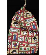 Christmas Cotton Drawstring Gift Bag - $4.00