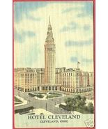 CLEVELAND OHIO Hotel Linen Postcard OH - $6.00
