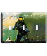 HALO CHIEF TRIPLE LIGHT SWITCH COVER PLATE XBOX... - $17.99