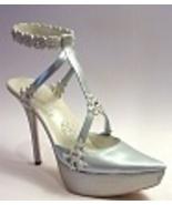 Snow Queen Silvery Platform Sparkles Snowflakes... - $129.99