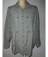 Genuine Sonoma Jean Company Woman Top 3X Green ... - $14.99