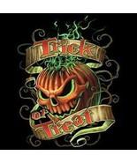 Trick Or Treat Flaming Pumpkin  Sweatshirt / Lo... - $19.70 - $27.62