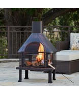 Outdoor Chiminea Fireplace Chimney Fire Pit Woo... - $237.47