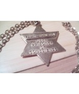 BADGE Pendent STAR of DAVID Prisoner of Conscie... - $24.74