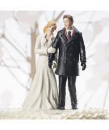 Winter Wonderland Wedding Couple Cake Topper Fi... - $34.64