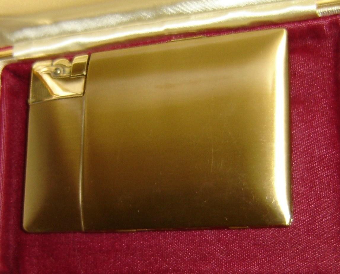 Vintage Elgin American Brass Cigarette Case Lighter Cases