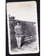 Old Vintage Antique Photograph Sexy Woman Weari... - $7.92