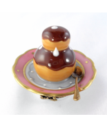 Limoges Box - Chocolate Cream Puff Pastry & Spo... - $92.00