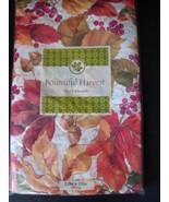 Bountiful Harvest Leaves Vinyl Fall Tablecloth ... - $5.99