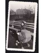 Antique Photograph Little Girl Wearing Bonnet o... - $8.91