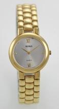 Benrus Men's White Dial Gold Case Band Quartz W... - $29.63