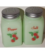 Jadeite Jadite Green Milk Glass Salt & Pepper S... - $26.68